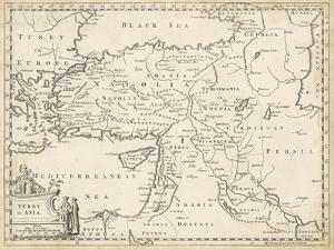 Map of Turkey in Asia by T^ Jeffreys