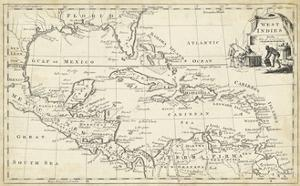 Map of West Indies by T. Jeffreys