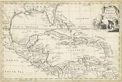 Map of West Indies by T^ Jeffreys
