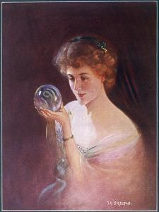 Girl Gazes into a Crystal Ball by T.r. Skelton
