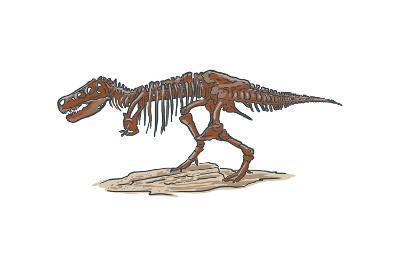T-Rex - Icon-Lantern Press-Art Print