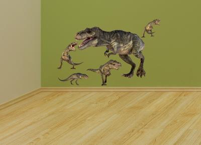 T. Rex Layout--Wall Decal