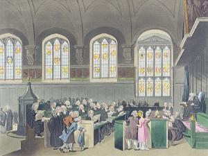 Court of Chancery, Lincoln's Inn Hall, Engraved by Constantine Stadler (Fl.1780-1812), 1808 by T. Rowlandson