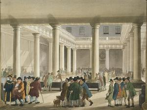 The Corn Exchange from Ackermann's 'Microcosm of London', 1808 (Aquatint) by T Rowlandson