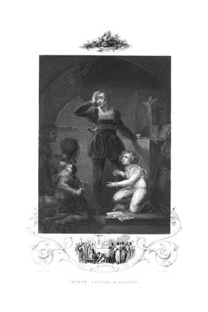 King John Swearing Fealty to the Pope before Princes Arthur and Hubert, 19th Century