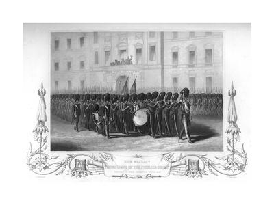 Queen Victoria (1819-190) Taking Leave of the Fusilier Guards, London, 1857