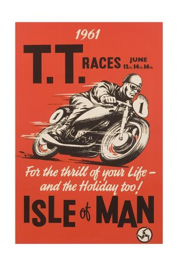 T.T. Races Isle of Man Poster--Premium Giclee Print