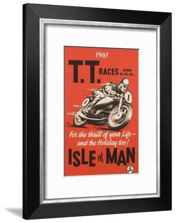 T.T. Races Isle of Man Poster--Framed Giclee Print