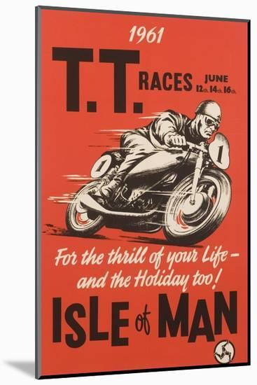 T.T. Races Isle of Man Poster--Mounted Giclee Print