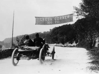 T Thornycroft in a Thornycroft Car in a Tt Race, 1908--Photographic Print