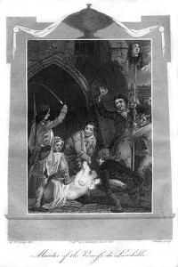 Murder of the Princess De Lamballe, 1816 by T Wallis