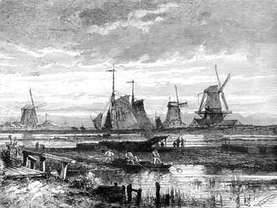 Hooge Veenen, Dordrecht, Holland, 19th Century