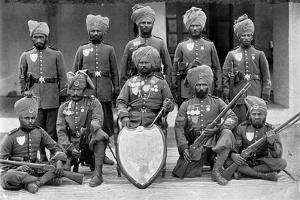 The Champion Shooting Team of the 26th Punjab Regiment of Bengal Infantry, 1896 by T Winter