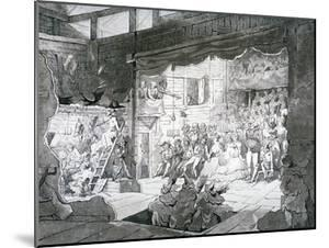 A Country Theatre, 1790 by T Wright