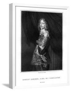 Robert Dormer, 1st Earl of Carnarvon, Royalist Soldier by T Wright