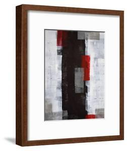 Red and Grey Abstract Art Painting by T30 Gallery