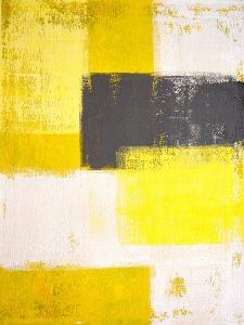 Yellow and Grey Abstract Art Painting by T30 Gallery