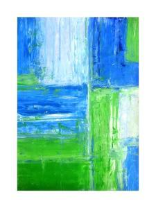 Blue and Green Abstract Art Painting by T30Gallery