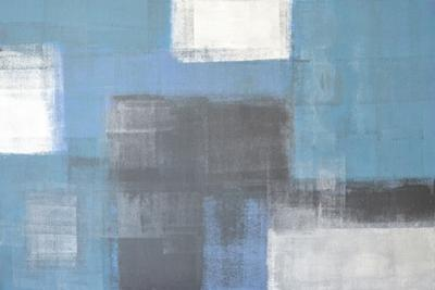 Grey And Blue Abstract Art Painting by T30Gallery