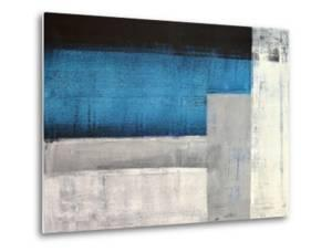 Grey And Teal Abstract Art Painting by T30Gallery