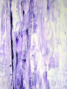 Lavender Abstract Art Painting by T30Gallery