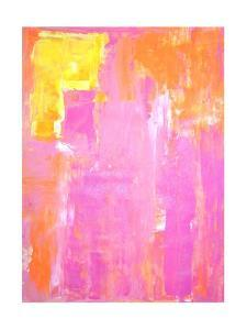 Pink and Orange Abstract Art Painting by T30Gallery