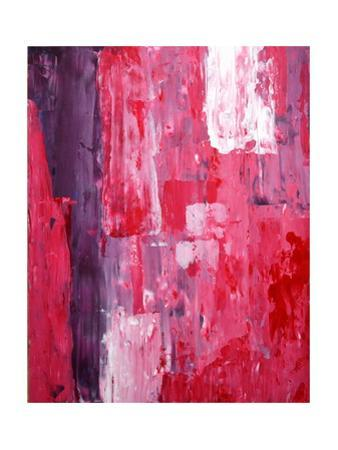 Pink And Purple Abstract Art Painting by T30Gallery