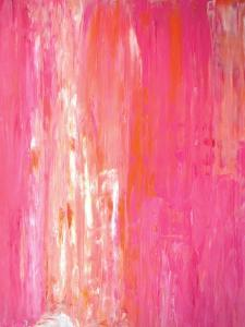 Pink and White Abstract Art Painting by T30Gallery