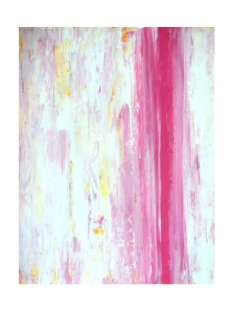 Pink and Yellow Abstract Art Painting by T30Gallery