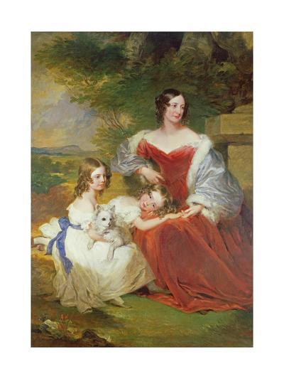 T32011 Portrait of Mrs Sarah Frances Cooper and Her Daughters-Frederick Richard Say-Giclee Print