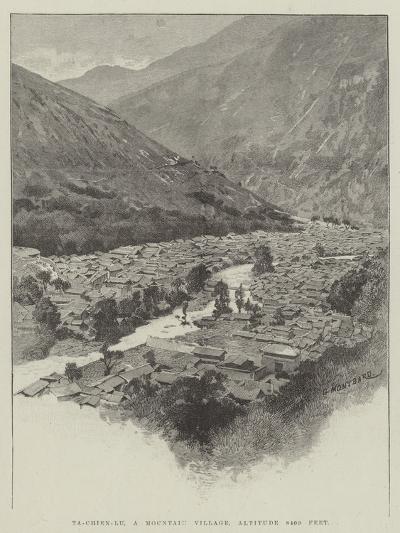 Ta-Chien-Lu, a Mountain Village, Altitude 8400 Feet-Charles Auguste Loye-Giclee Print