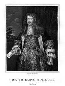 Henry Bennet, 1st Earl of Arlington, English Statesman by TA Dean