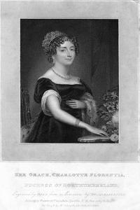 Her Grace Charlotte Florentia, Duchess of Northumberland, 1829 by TA Dean