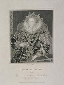 Queen Elizabeth I with an Ermine, 1821 by TA Dean