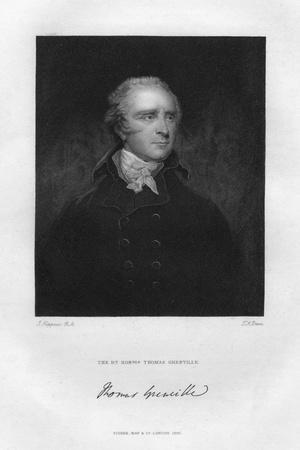 Thomas Grenville (1755-184), British Politician and Bibliophile, 19th Century