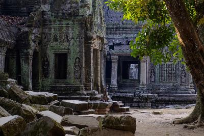 Ta Prohm Temple, Built in the 12th Century by King Jayavarman Vii, Angkor-Nathalie Cuvelier-Photographic Print