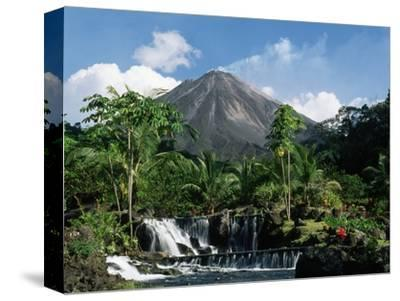 Tabacon Hot Springs and Volcan Arenal-Kevin Schafer-Stretched Canvas Print