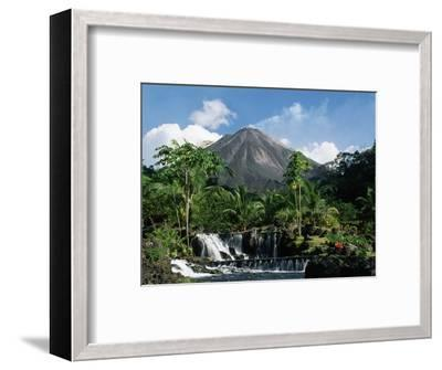 Tabacon Hot Springs and Volcan Arenal-Kevin Schafer-Framed Premium Photographic Print