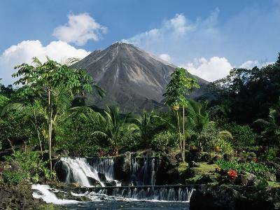 Tabacon Hot Springs and Volcan Arenal-Kevin Schafer-Photographic Print