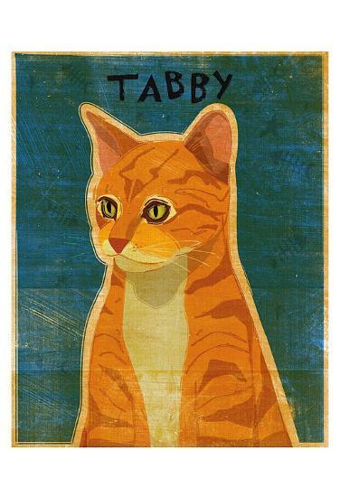 Tabby (orange)-John Golden-Art Print