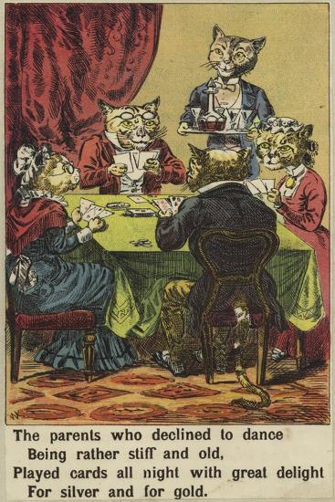 Tabby's Party--Giclee Print