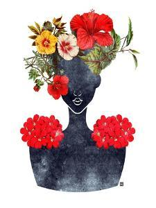 Flower Crown Silhouette I by Tabitha Brown