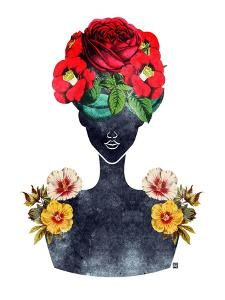 Flower Crown Silhouette III by Tabitha Brown