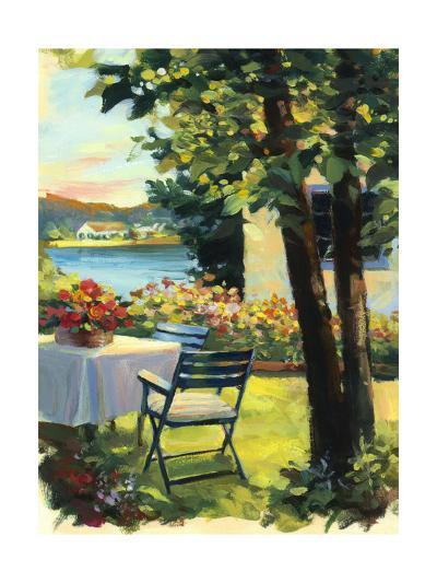 Table and Chairs with Flowers--Art Print