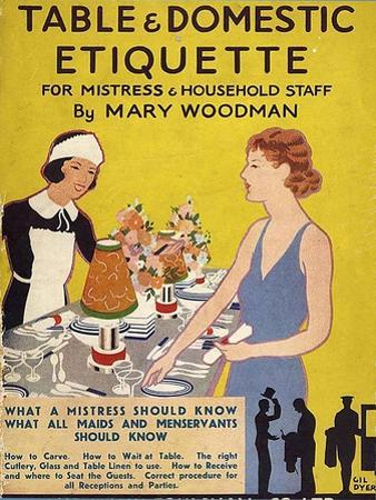Table and Domestic Etiquette, UK