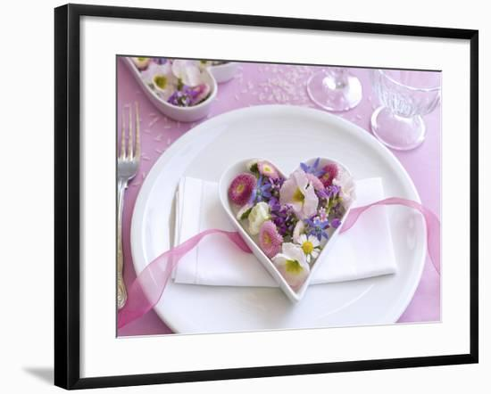Table Decorations, Wedding, Heart, Blossoms-C. Nidhoff-Lang-Framed Photographic Print