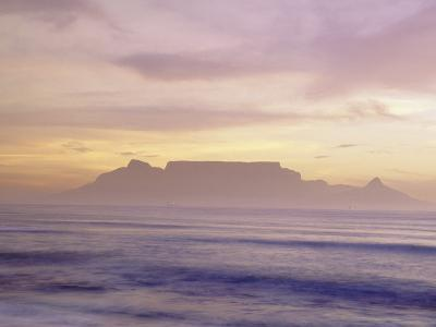 Table Mountain at Dusk, Cape Town, South Africa-Walter Bibikow-Photographic Print