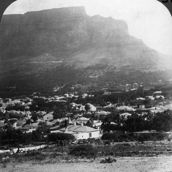Table Mountain, Cape Town, South Africa-Underwood & Underwood-Photographic Print