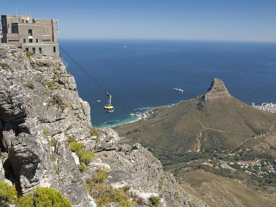 Table Mountain National Park Cableway Aerial Tram and Station, Cape Town, South Africa-Cindy Miller Hopkins-Photographic Print