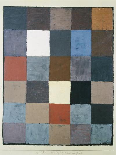 Table of colours (on grey) (Farbtafel (auf maiorem Grau)). 1930, 83-Paul Klee-Giclee Print
